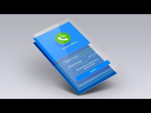Calling App UI Design - Mobile Application Tutorial in Photoshop