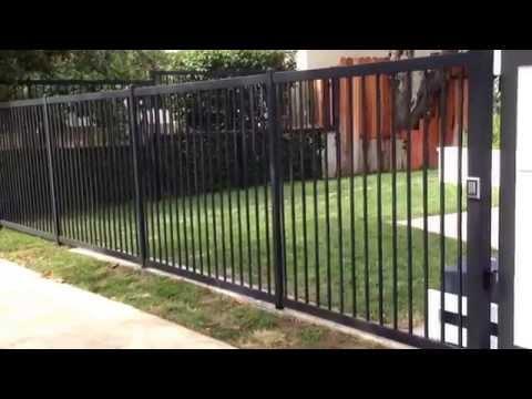 Celebrity Iron and Wood Gate Installation Toluca Lake California