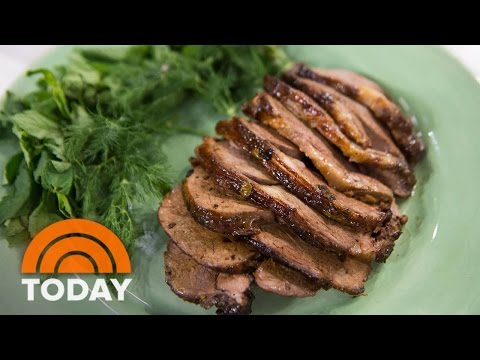 Bobby Flay's Recipe For Easter: Leg Of Lamb With Sweet And Sour Mint Glaze | TODAY