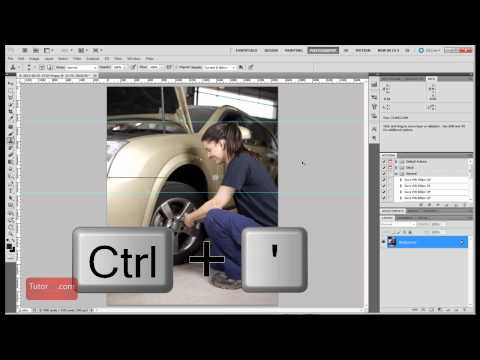 60 Second Photoshop Tutorial - Show and Hide Grids and Guides