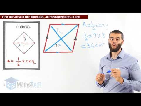 97  Area of a Rhombus & Kite