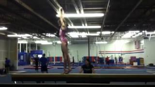 Standing Back Tuck on High Beam~ Gymnastics