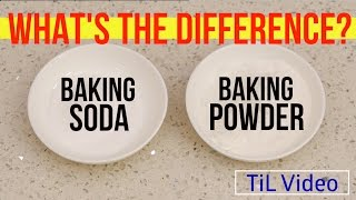The difference between Baking Soda and Baking Powder