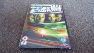 The Fast And The Furious (UK) DVD Unboxing