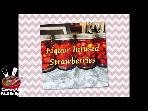 Liquor Infused Strawberries Recipe / Canning Strawberries