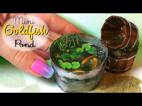 Miniature Goldfish Pond Tutorial // Dolls/Dollhouse // SugarCharmShop