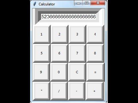 Python Tkinter GUI Tutorial 1 - How to Create Calculator