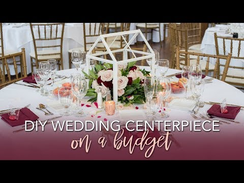Dollar Tree DIY Lantern Centerpiece with Fresh Flowers | Budget Wedding Centerpiece