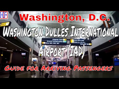 Washington Dulles International Airport (IAD) – Arrivals, Ground Transport & Metro trains | Ep# 1