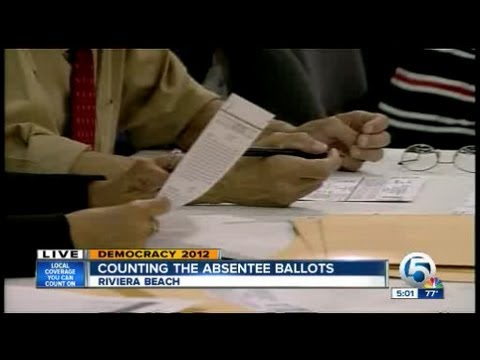 Counting the absentee ballots