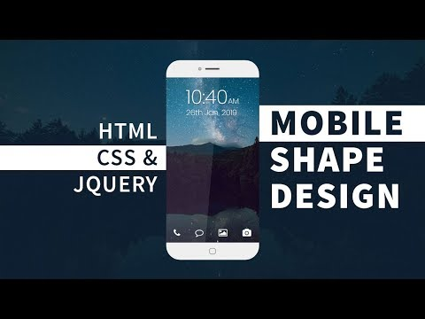 Mobile UI Design   Html CSS and jQuery