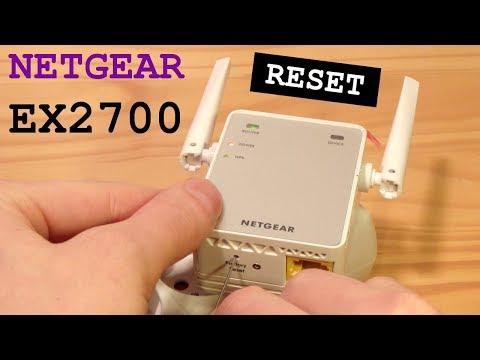 NETGEAR EX2700 Wi-Fi Extender • Factory Reset
