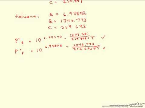 Dew Temperature Calculation/Excel Solver