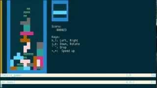 TeTrIs.vim: playing Tetris and practicing hjkl in Vim