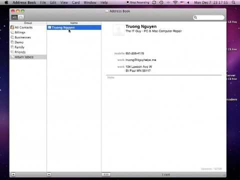 How To print return labels in Mac OS X using Address Book
