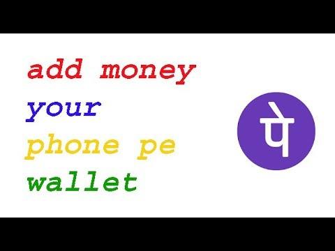 phone pe app how to  add money in wallet
