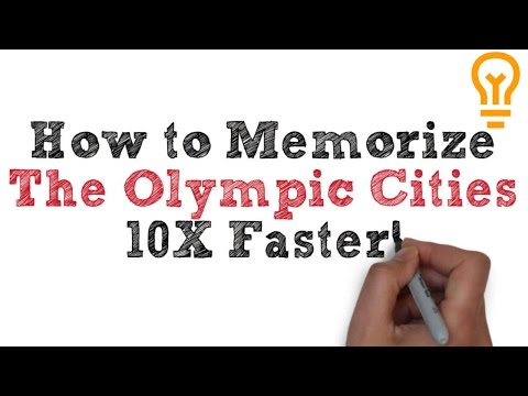 How to Memorize the 28 Olympic Cities (Video 1)