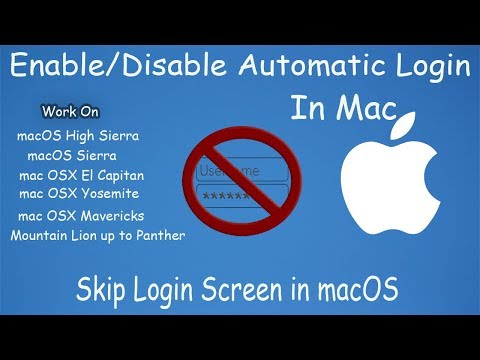 How to Automatically Login to macOS (Apple Computer) without Entering a Password