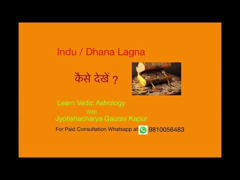 How to See Indu/Dhan (धन) Lagna - Financial Strength in a Birth Chart