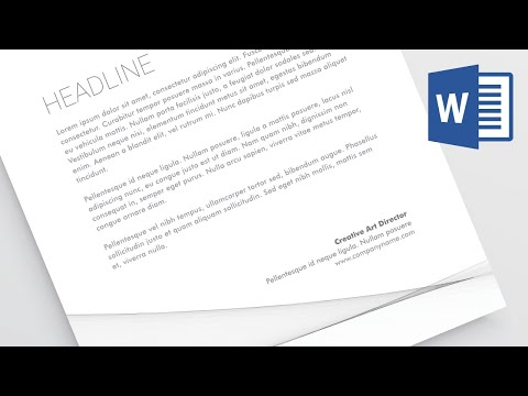 Creating a formal business letter in Microsoft Word - Word 2016 Tutorial [3/52]