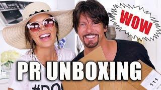 FREE STUFF BEAUTY GURUS GET | Unboxing PR Packages w/ James
