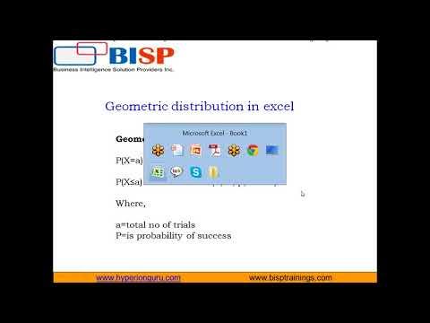 Excel Statistics Geometric Distribution