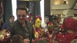 Robert Downey Jr. Crashes a Kid