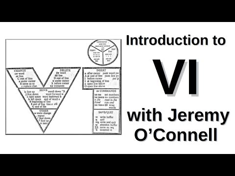 Introduction to VI  with Jeremy O'Connell