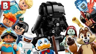 Download LEGO Disney Collectible Minifugres Series 2 Darth, Vader Bust, Spider-Man Far From Home sets | News Video