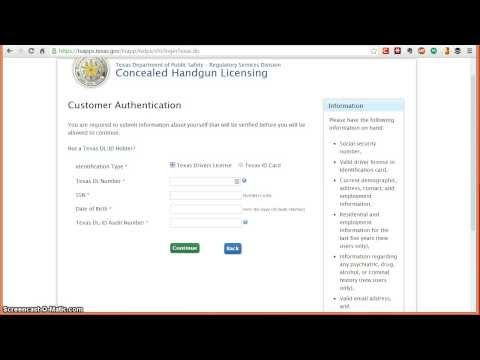 How to apply online for the Texas Concealed Handgun License (CHL)