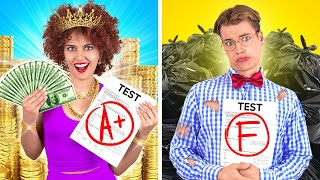 GOOD STUDENT VS BAD STUDENT || Types Of Students At School! Popular VS Nerd by 123 GO! CHALLENGE