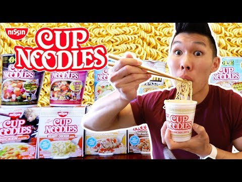 Cup Noodles Instant Ramen Flavors Ranked Best to Worst || Life After College: Ep. 592