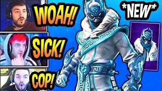 STREAMERS Reacts TO *NEW* 'SNOWFOOT' EPIC Skin & Tfue *BUYS* NEW Emote! (Fortnite Battle Royale)