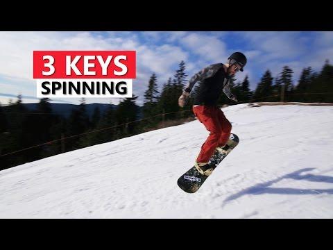 3 Keys for Spinning on a Snowboard - Beginner Snowboarding Tricks