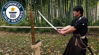 Martial arts master attempts katana world record - Guinness World Records