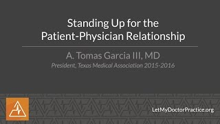 Standing Up for the Patient Physician Relationship