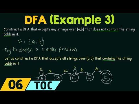 Deterministic Finite Automata (Example -3)