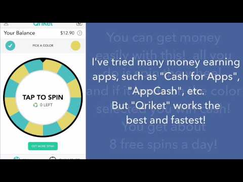 BEST APP TO MAKE MONEY!!!  | 2016| Qriket | Apple | Android |