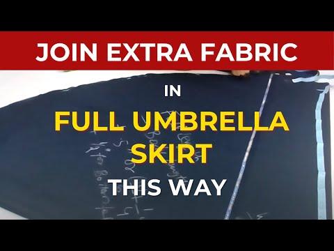 Make Umbrella Skirt : Umbrella Skirt cutting pattern video Circular Maxi skirt anarkali Dress Frock2
