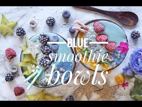 HOW TO MAKE BLUE SMOOTHIE BOWLS