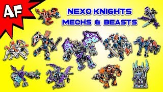 Every Lego Nexo Knights MECHS & BEASTS Collection!