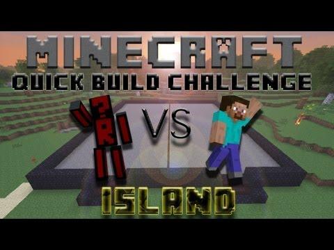 Minecraft Quick Build Challenge - Island! (No Block Breaking)