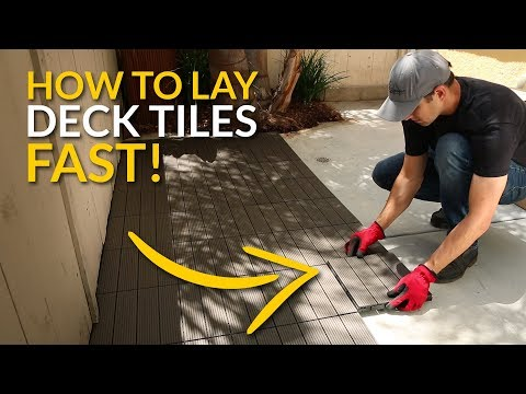 How To Lay Deck Tiles Fast!