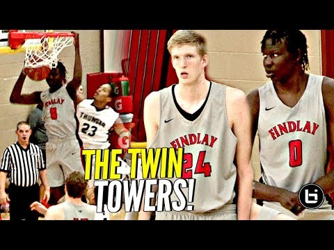 7'1 Bol Bol & 7'3 Connor Vanover On The SAME TEAM!! 😂 The Twin Tower Show at Hoophall West!