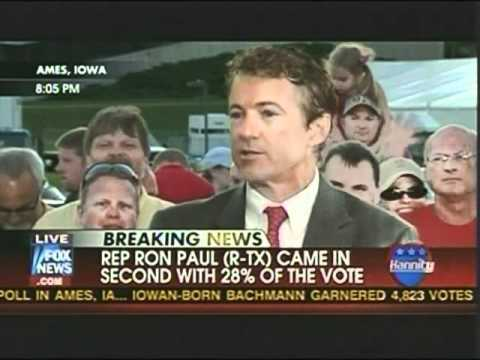 Rand Paul Reaction To Father Ron Paul's Grand Showing At The Ames Straw Poll
