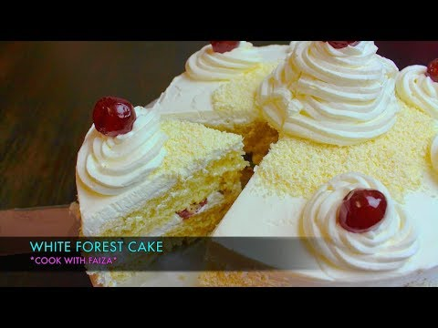 WHITE FOREST CAKE *COOK WITH FAIZA*