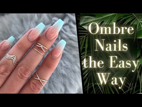 Minty Summer Ombre Nails the Easy Way