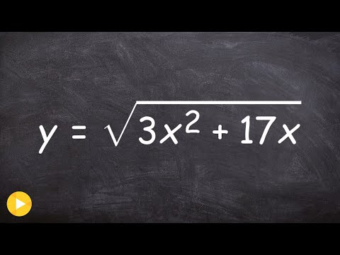 How to use the chain rule with a square root