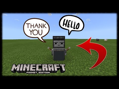 Minecraft PE | How to Make a Talking Robot