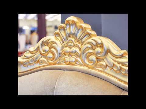 Baroque Throne Chair - Queen Chair - Beige - Chair